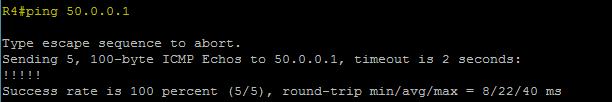 Ping vers 50.0.0.1