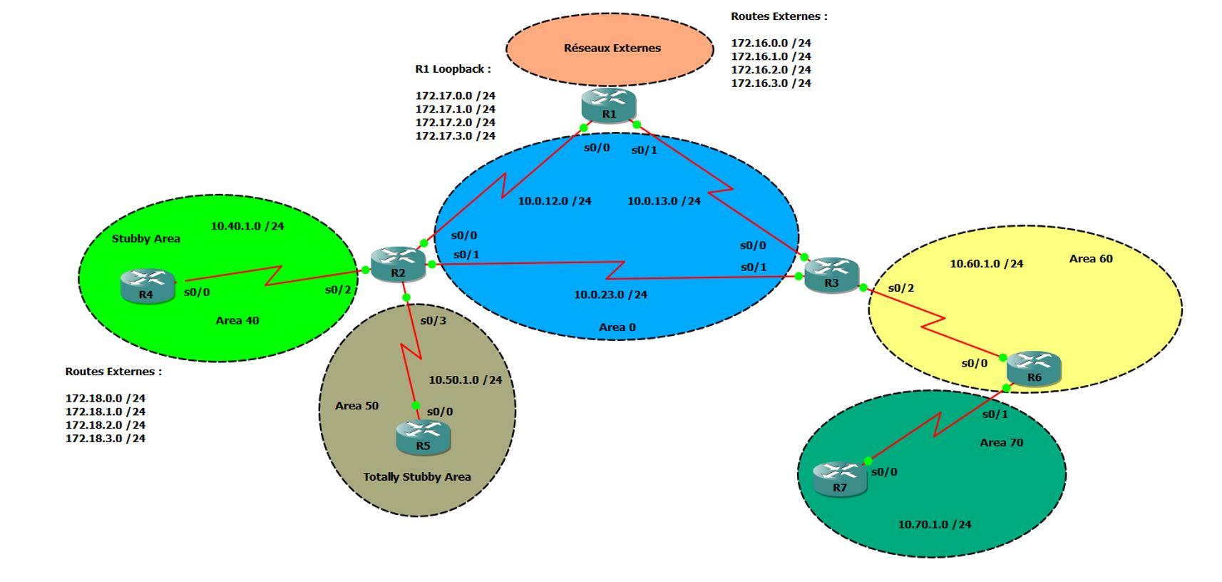 Topologie OSPF