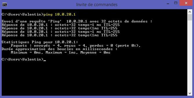 Ping 10.0.20.1