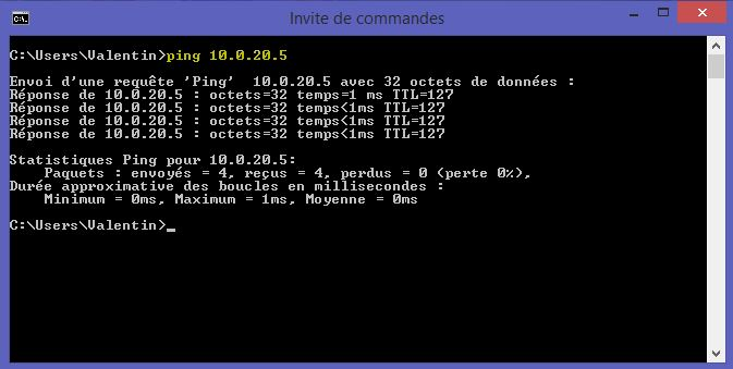 Ping 10.0.20.5