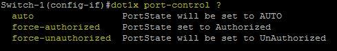 Dot1x port-control