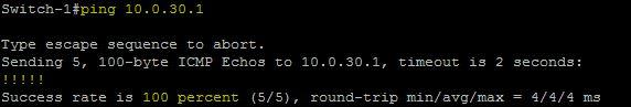 Ping 10.0.30.1