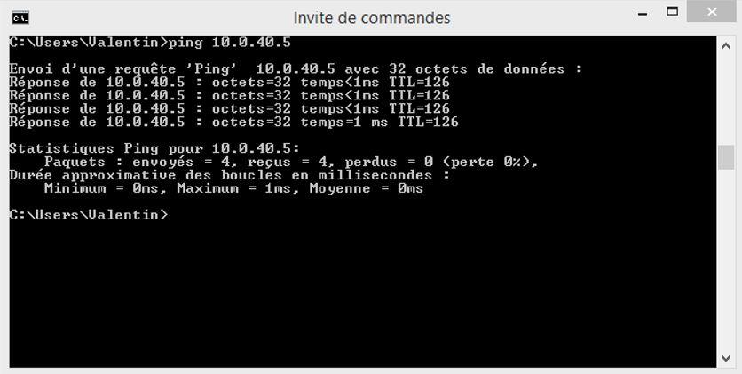 Ping 10.0.40.5