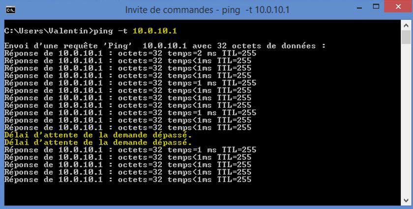 Ping 10.0.10.1