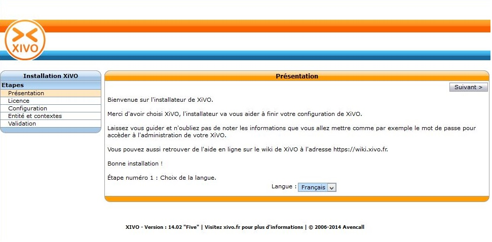 Xivo Configuration Initiale