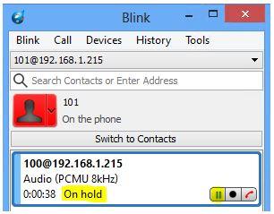 Mise en attente d'un appel