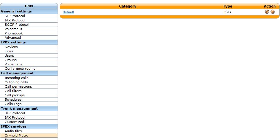 Xivo Configuration MOH