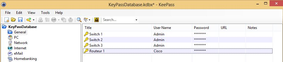 Screenshot KeyPass