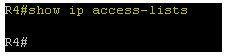 Show ip access-list