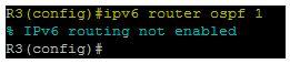 ipv6 routeur ospf 1